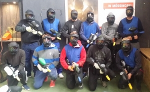 Besuch der Paintball Arena in Mössingen